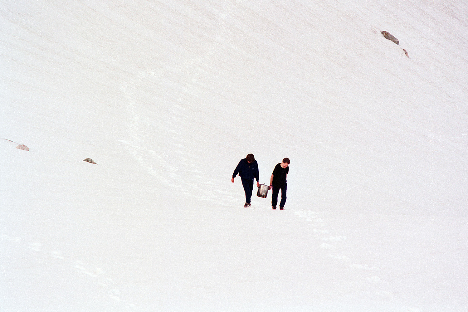 Two Men in August Snow, Norway