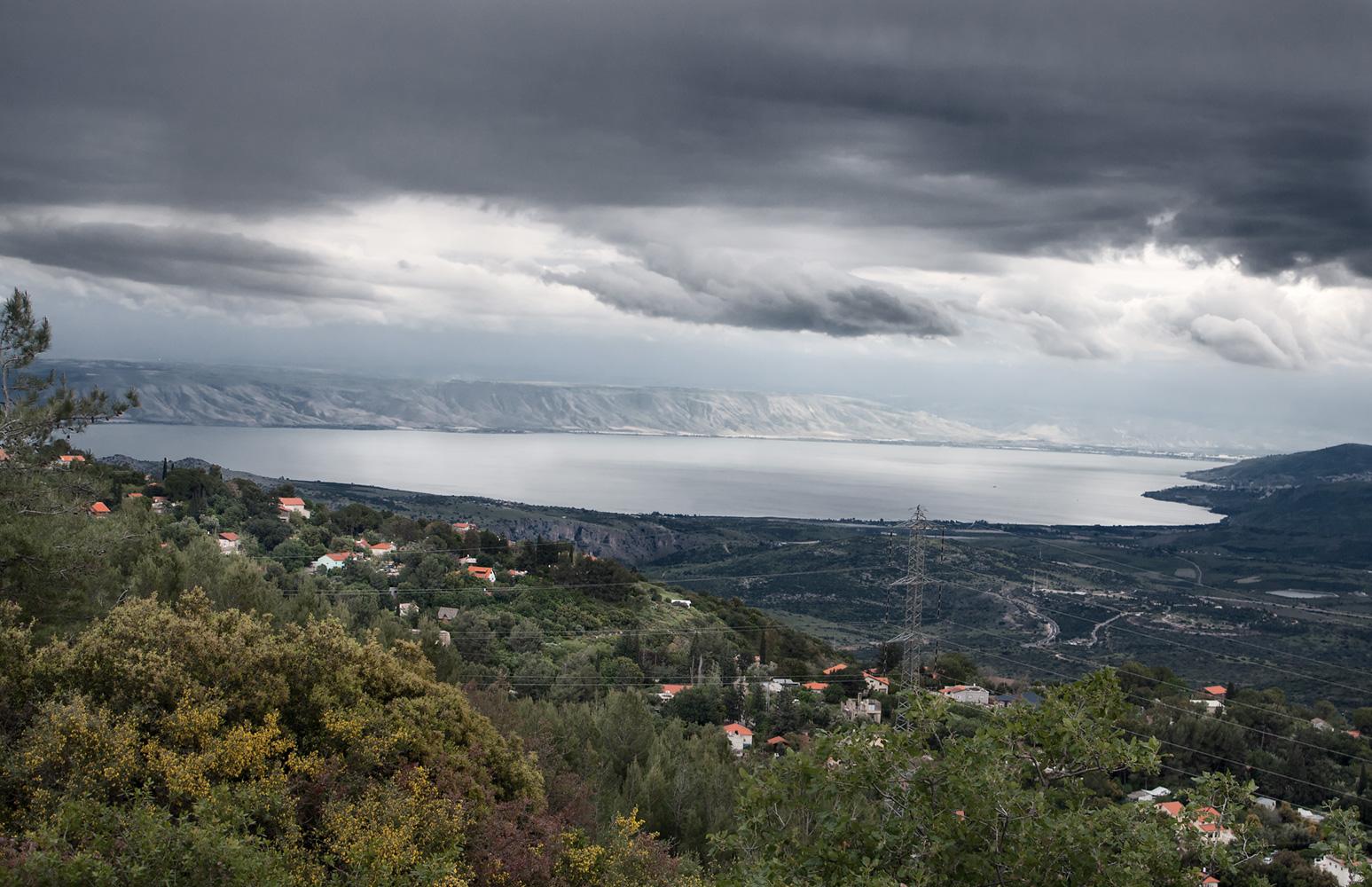 Lake Tiberias over Kadarim